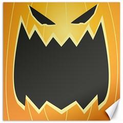 Halloween Pumpkin Orange Mask Face Sinister Eye Black Canvas 20  X 20   by Mariart