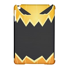 Halloween Pumpkin Orange Mask Face Sinister Eye Black Apple Ipad Mini Hardshell Case (compatible With Smart Cover) by Mariart