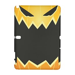 Halloween Pumpkin Orange Mask Face Sinister Eye Black Galaxy Note 1 by Mariart