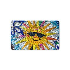 Sun From Mosaic Background Magnet (name Card) by Nexatart