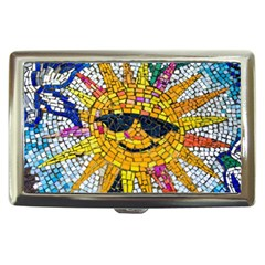 Sun From Mosaic Background Cigarette Money Cases by Nexatart