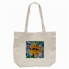 Sun From Mosaic Background Tote Bag (cream) by Nexatart