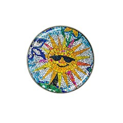 Sun From Mosaic Background Hat Clip Ball Marker (4 Pack)