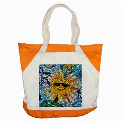 Sun From Mosaic Background Accent Tote Bag by Nexatart