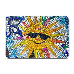 Sun From Mosaic Background Small Doormat