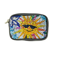 Sun From Mosaic Background Coin Purse by Nexatart