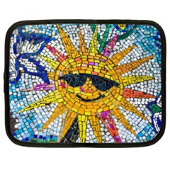 Sun From Mosaic Background Netbook Case (xxl)  by Nexatart