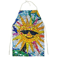 Sun From Mosaic Background Full Print Aprons by Nexatart