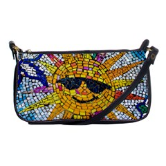 Sun From Mosaic Background Shoulder Clutch Bags by Nexatart