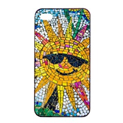 Sun From Mosaic Background Apple Iphone 4/4s Seamless Case (black) by Nexatart