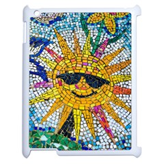 Sun From Mosaic Background Apple Ipad 2 Case (white) by Nexatart