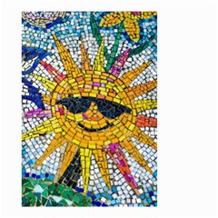Sun From Mosaic Background Small Garden Flag (two Sides) by Nexatart
