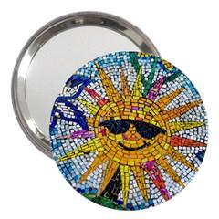 Sun From Mosaic Background 3  Handbag Mirrors by Nexatart