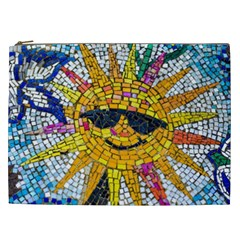 Sun From Mosaic Background Cosmetic Bag (xxl)  by Nexatart