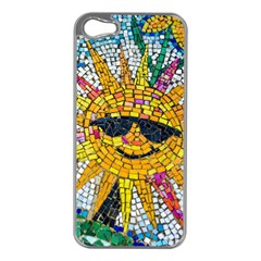 Sun From Mosaic Background Apple Iphone 5 Case (silver) by Nexatart