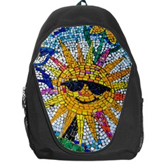 Sun From Mosaic Background Backpack Bag