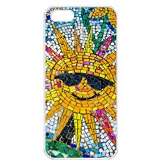 Sun From Mosaic Background Apple Iphone 5 Seamless Case (white) by Nexatart