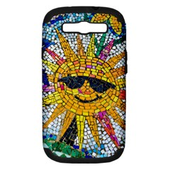 Sun From Mosaic Background Samsung Galaxy S Iii Hardshell Case (pc+silicone)