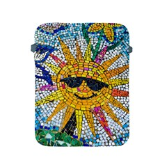 Sun From Mosaic Background Apple Ipad 2/3/4 Protective Soft Cases