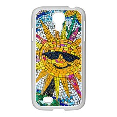 Sun From Mosaic Background Samsung Galaxy S4 I9500/ I9505 Case (white) by Nexatart