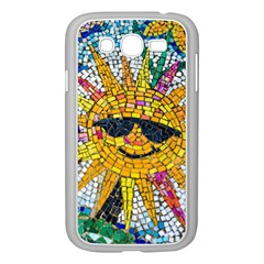 Sun From Mosaic Background Samsung Galaxy Grand Duos I9082 Case (white) by Nexatart
