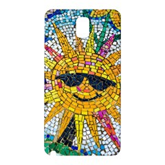 Sun From Mosaic Background Samsung Galaxy Note 3 N9005 Hardshell Back Case by Nexatart
