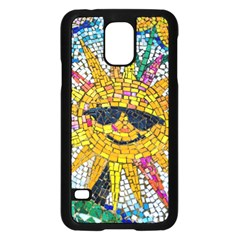 Sun From Mosaic Background Samsung Galaxy S5 Case (black)