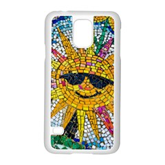Sun From Mosaic Background Samsung Galaxy S5 Case (white)