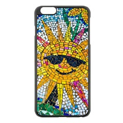 Sun From Mosaic Background Apple Iphone 6 Plus/6s Plus Black Enamel Case by Nexatart