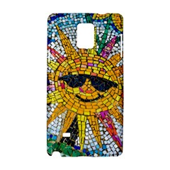 Sun From Mosaic Background Samsung Galaxy Note 4 Hardshell Case by Nexatart