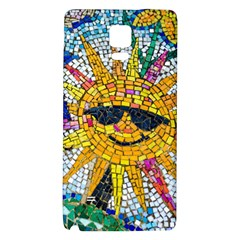 Sun From Mosaic Background Galaxy Note 4 Back Case by Nexatart