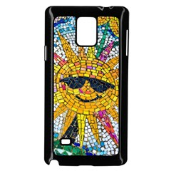 Sun From Mosaic Background Samsung Galaxy Note 4 Case (Black)