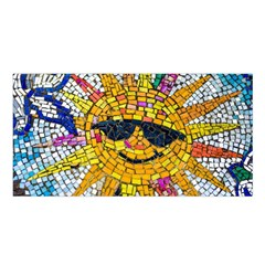 Sun From Mosaic Background Satin Shawl by Nexatart