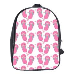 Flip Flops Flower Star Sakura Pink School Bags(large)  by Mariart