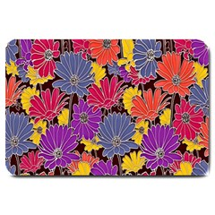 Colorful Floral Pattern Background Large Doormat  by Nexatart