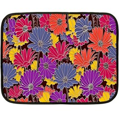 Colorful Floral Pattern Background Double Sided Fleece Blanket (mini)  by Nexatart