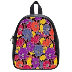 Colorful Floral Pattern Background School Bags (small)  by Nexatart