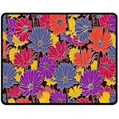 Colorful Floral Pattern Background Fleece Blanket (medium)