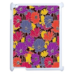 Colorful Floral Pattern Background Apple Ipad 2 Case (white)