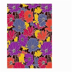Colorful Floral Pattern Background Small Garden Flag (two Sides) by Nexatart