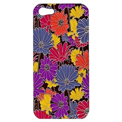 Colorful Floral Pattern Background Apple Iphone 5 Hardshell Case