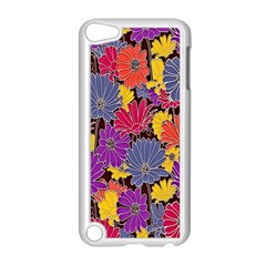 Colorful Floral Pattern Background Apple Ipod Touch 5 Case (white) by Nexatart