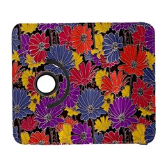 Colorful Floral Pattern Background Galaxy S3 (flip/folio) by Nexatart