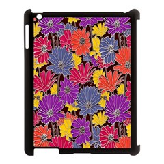 Colorful Floral Pattern Background Apple Ipad 3/4 Case (black)