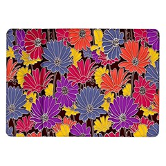 Colorful Floral Pattern Background Samsung Galaxy Tab 10 1  P7500 Flip Case by Nexatart