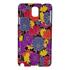 Colorful Floral Pattern Background Samsung Galaxy Note 3 N9005 Hardshell Case
