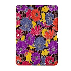 Colorful Floral Pattern Background Samsung Galaxy Tab 2 (10 1 ) P5100 Hardshell Case  by Nexatart
