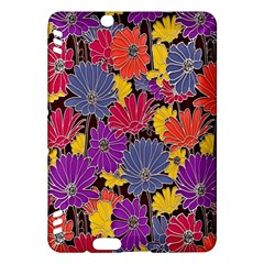 Colorful Floral Pattern Background Kindle Fire Hdx Hardshell Case by Nexatart