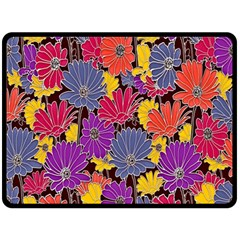 Colorful Floral Pattern Background Double Sided Fleece Blanket (large)  by Nexatart