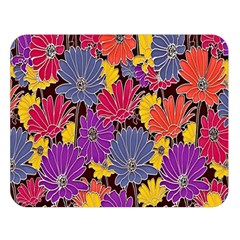 Colorful Floral Pattern Background Double Sided Flano Blanket (large)  by Nexatart